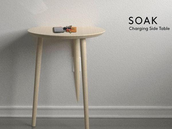 Soak Table avec recharge par induction Qi
