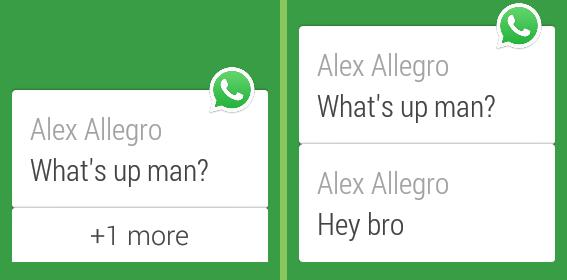 WhatsApp Messenger sur Android Wear