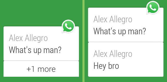 WhatsApp Messenger sur Android Wear