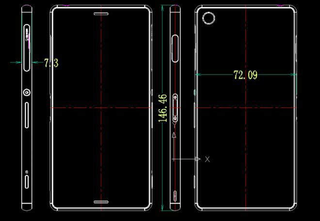 Sony Xperia Z3 dimensions