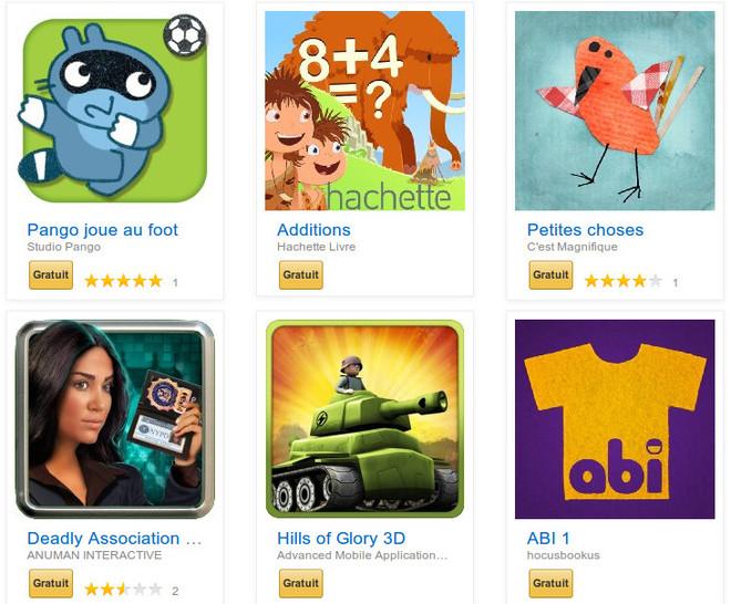Amazon App Shop pack de la rentrée