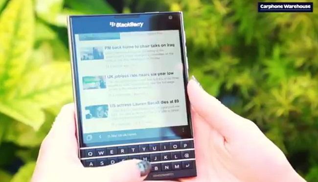 blackberry passport vidéo