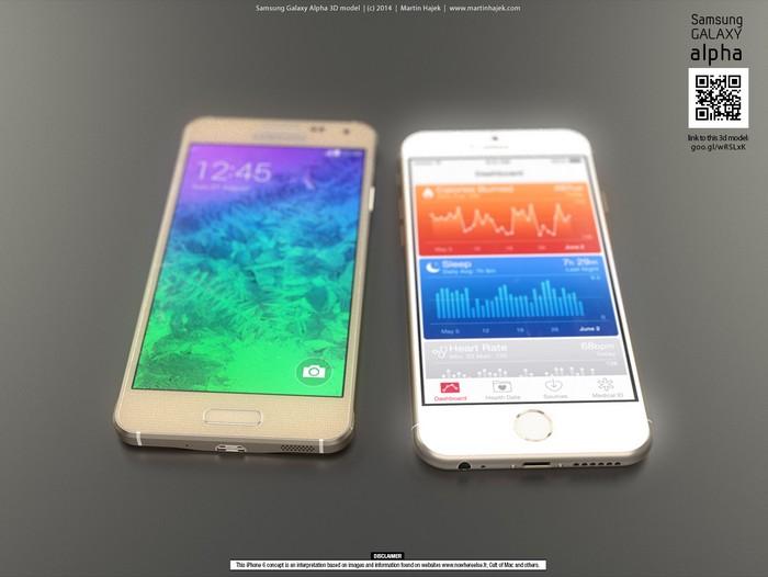 Galaxy Alpha vs iPhone 6