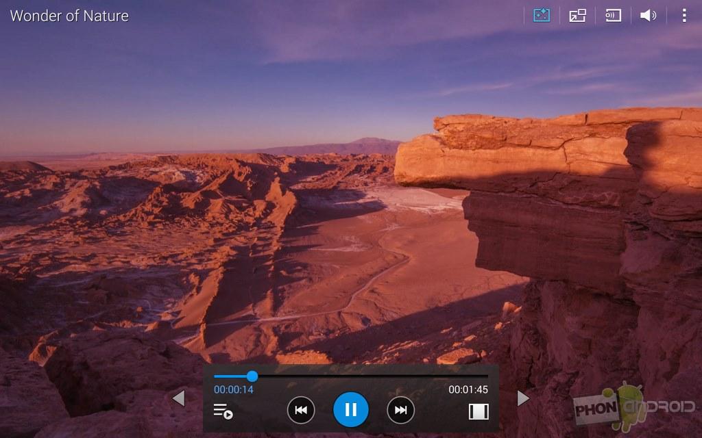 galaxy tab s 10.5 lecteur video