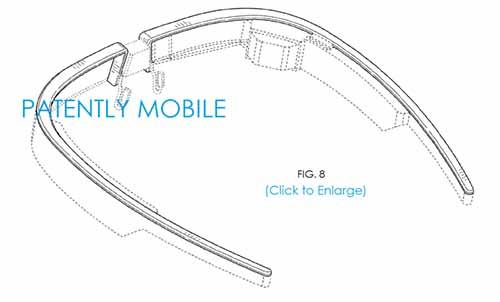 google glass nouveau design brevet