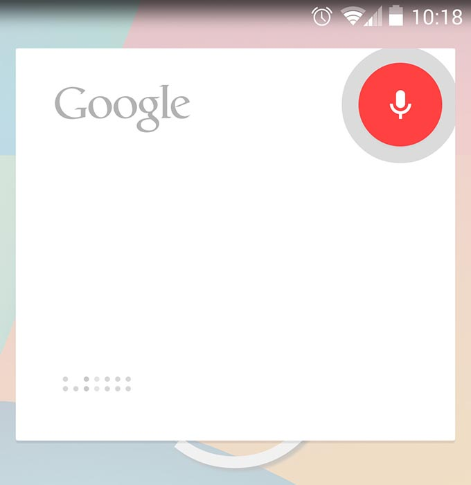 google hp nexus google now