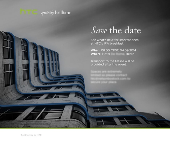 HTC invitation IFA 2014