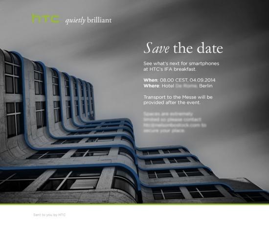 HTC invitation IFA 2014