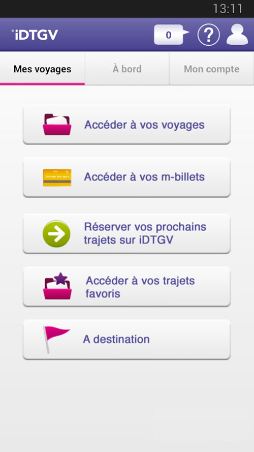 idtgv application reserver billet train