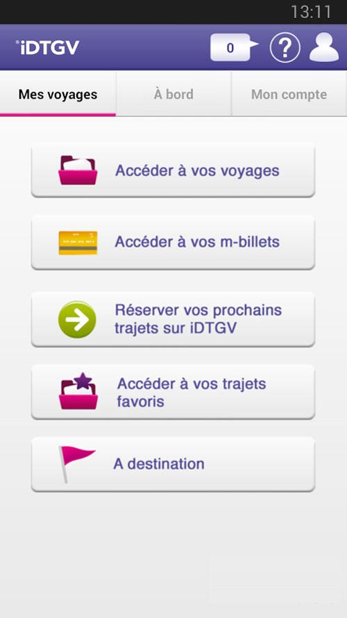 idtgv application reserver billet train