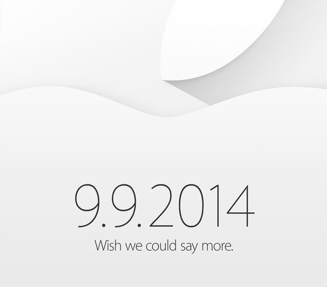 Invitation presse Apple 9 septembre 2014