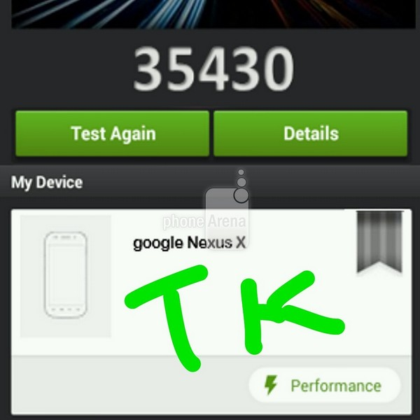 benchmark du Nexus X