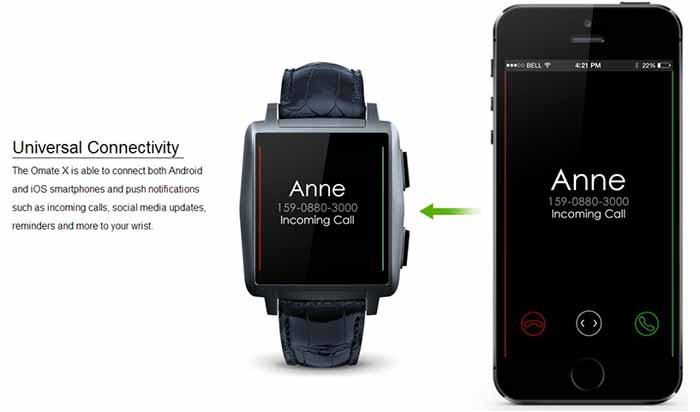 omate x smartwatch