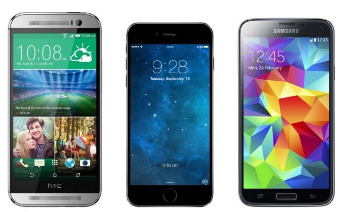 Iphone 6 vs smartphones android comparatif des bordures for Photo ecran android 6
