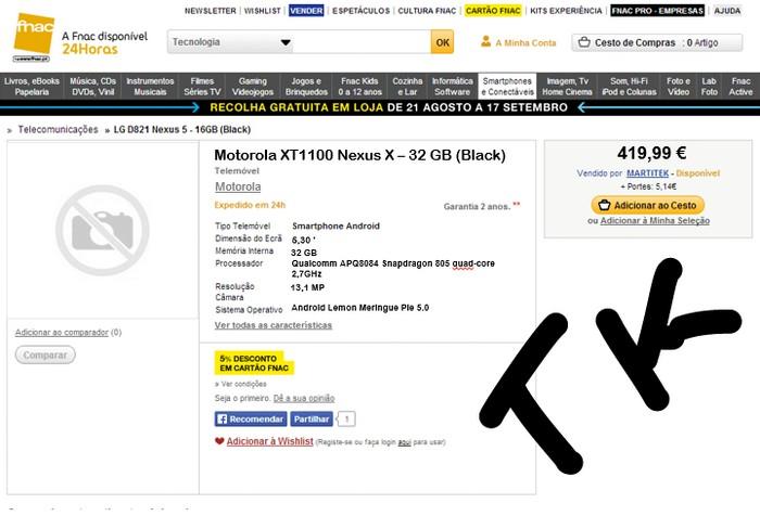 prix du Nexus X 32 Go