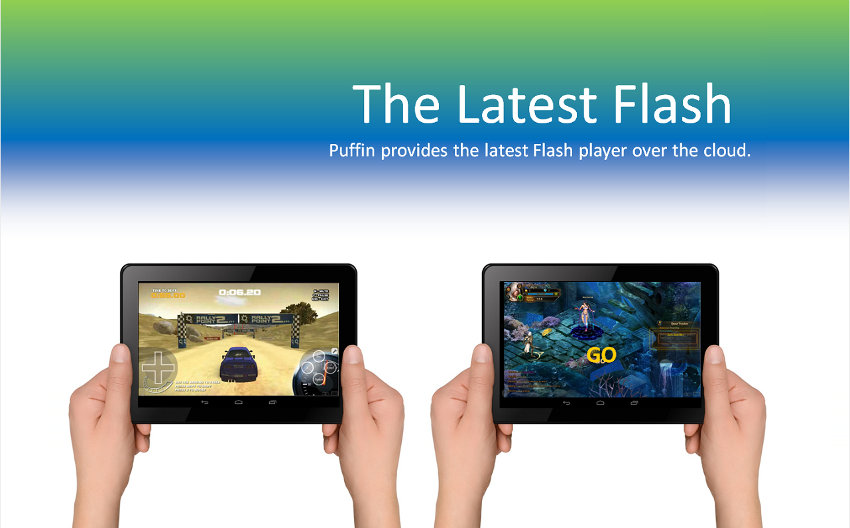 Puffin Web Browser avec Flash
