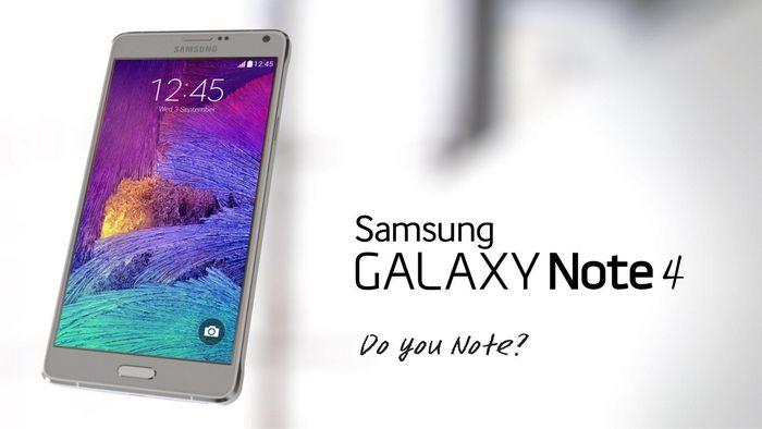 Galaxy Note 4 officiel