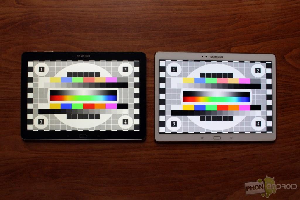 samsung galaxy tab s 10.5 comparatif ecran