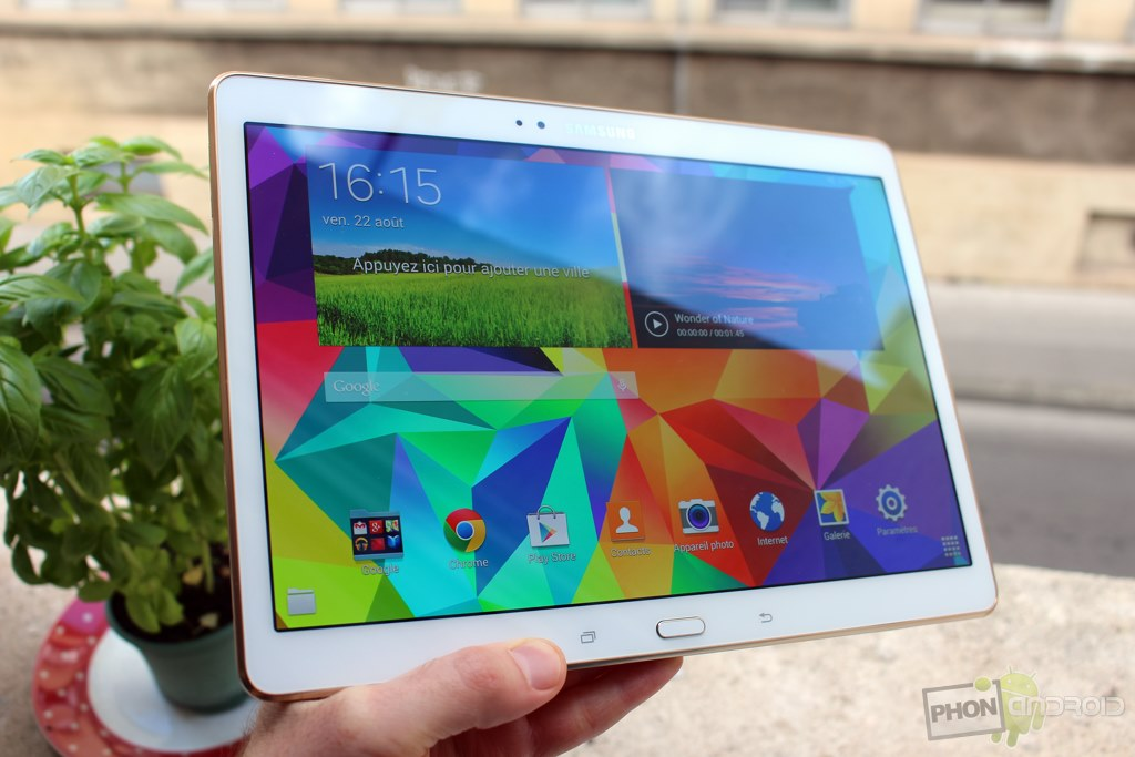 samsung galaxy tab s 10.5 luminosite