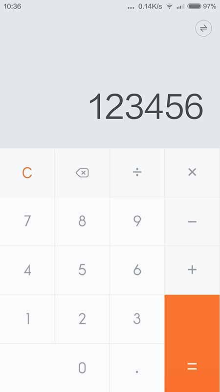 xiaomi miui 6 calculatrice