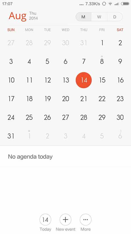xiaomi miui 6 calendrier
