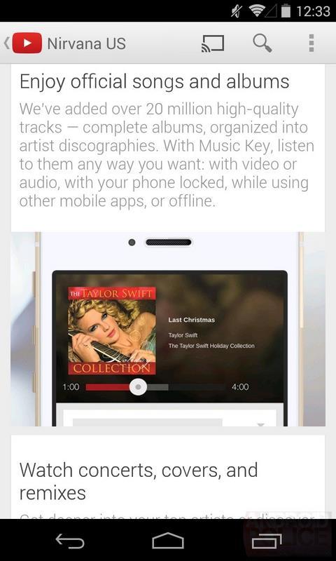 youtube music key streaming