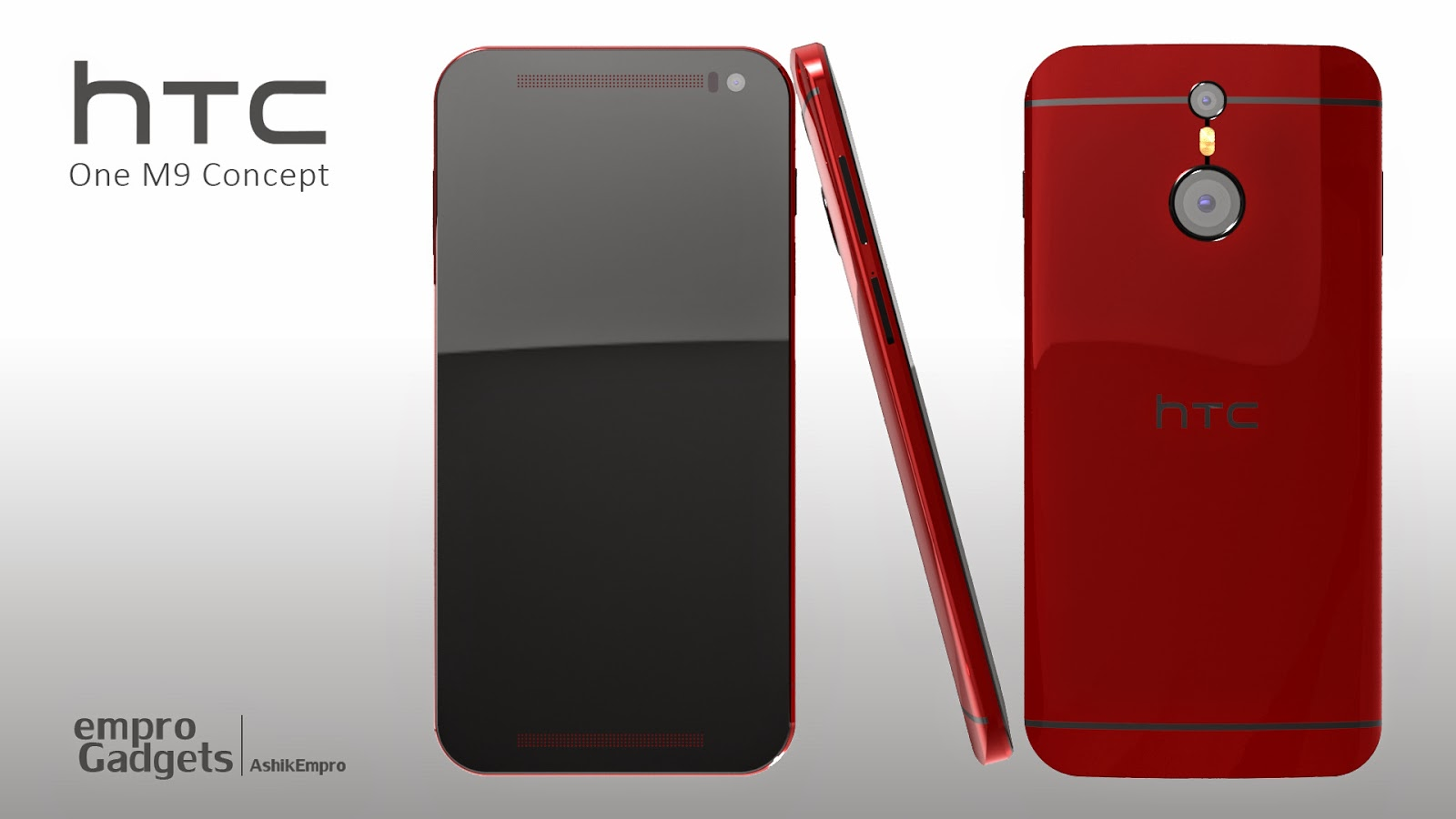 HTC-one-M9-rouge