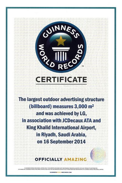 LG Guinness World Record