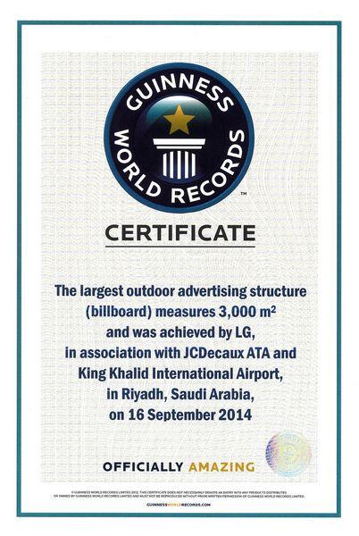 LG Guinness World Record