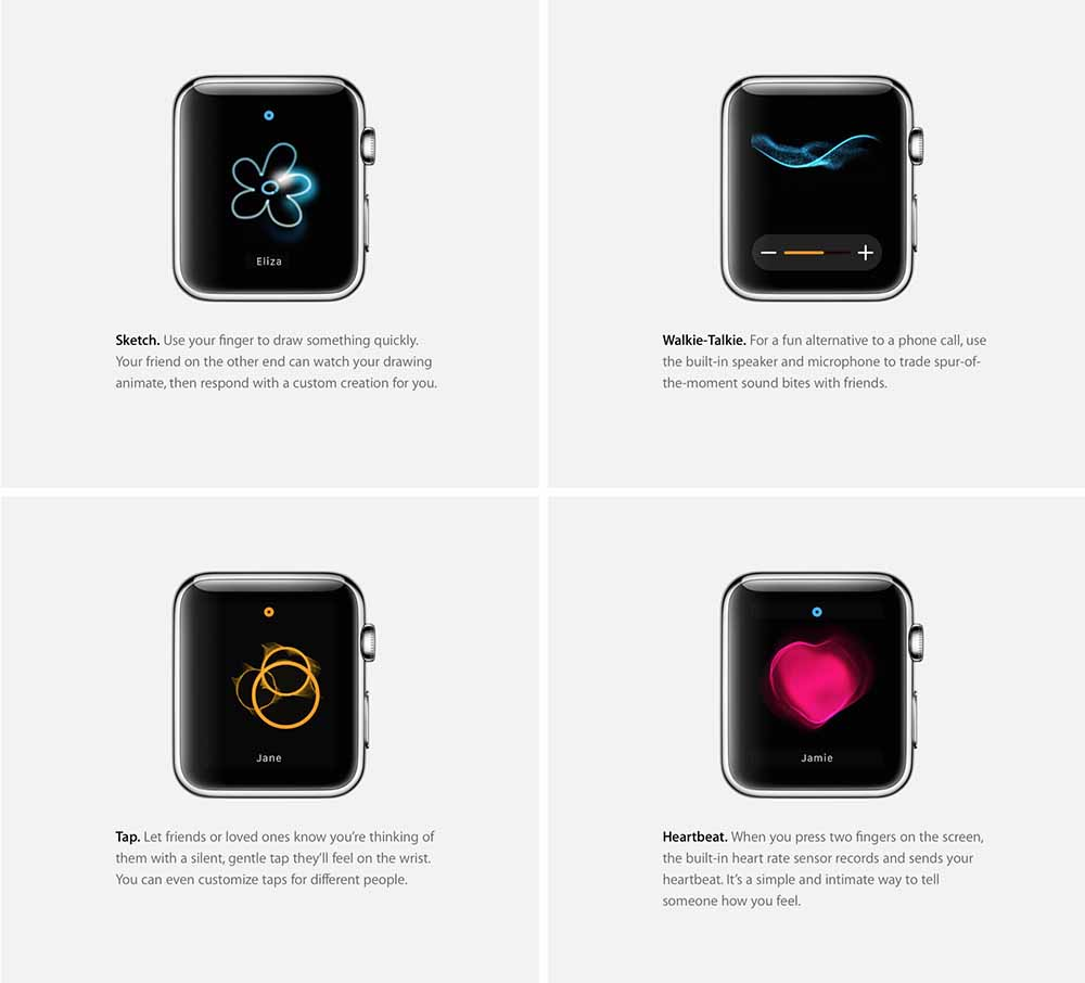 apple watch haptique