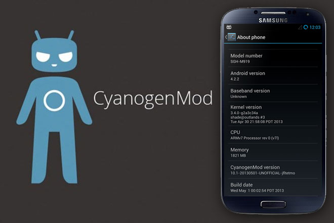 cyanogenmod samsung galaxy s4 s5