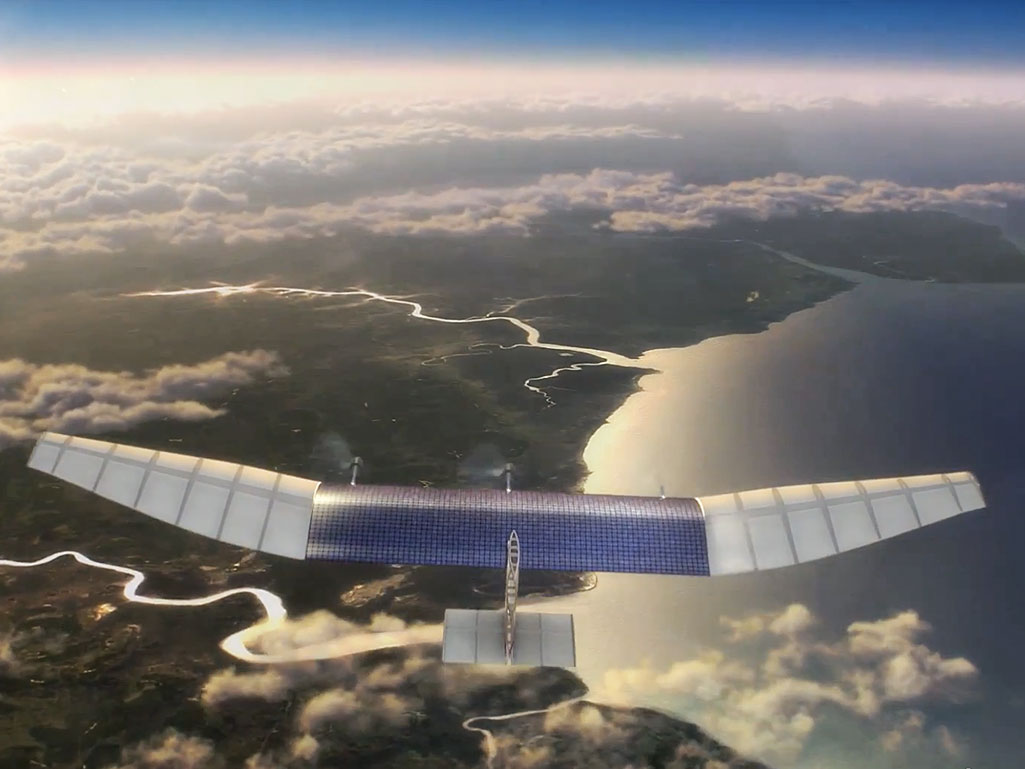 facebook google drone ballon internet ciel