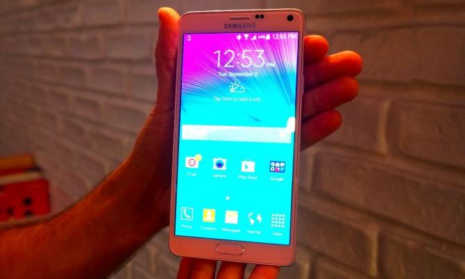Galaxy Note 4 écran