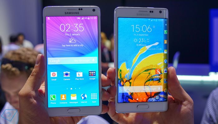 ventes Galaxy Note 4 et Galaxy Note Edge