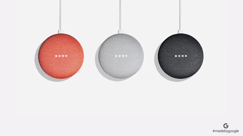 google home mini coloris