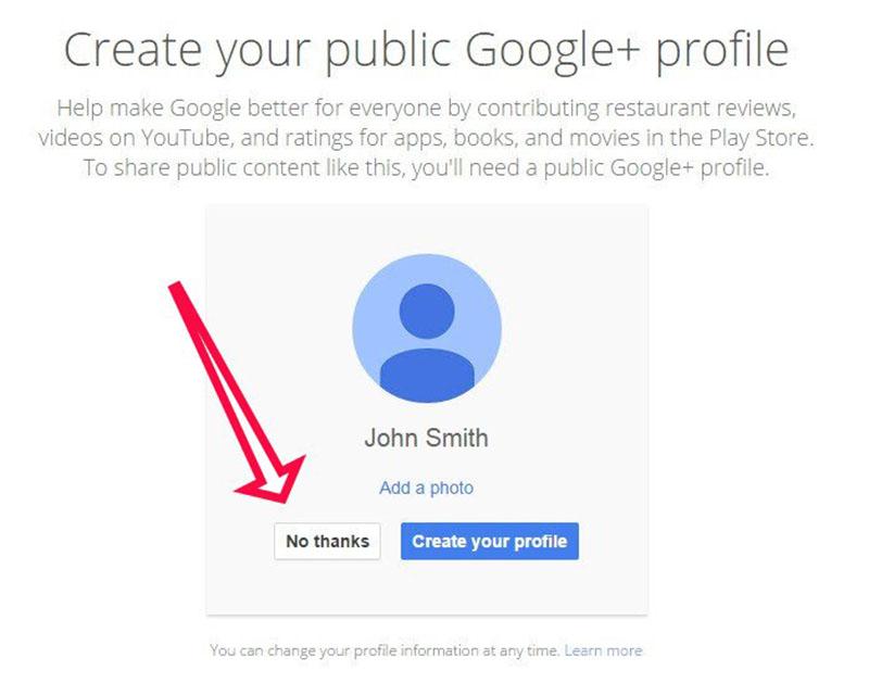 google + plus automatique