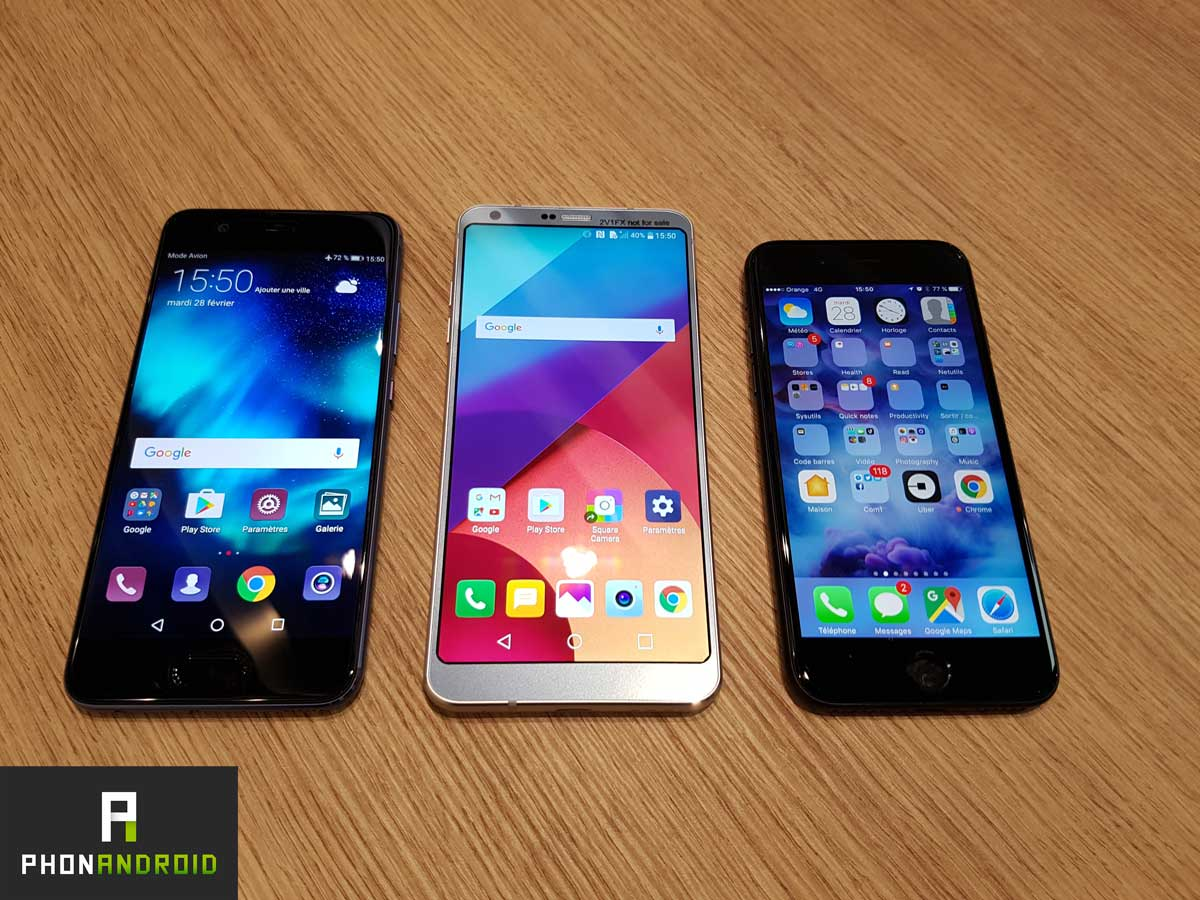 iphone 7vs lg g6 vs huawei p10