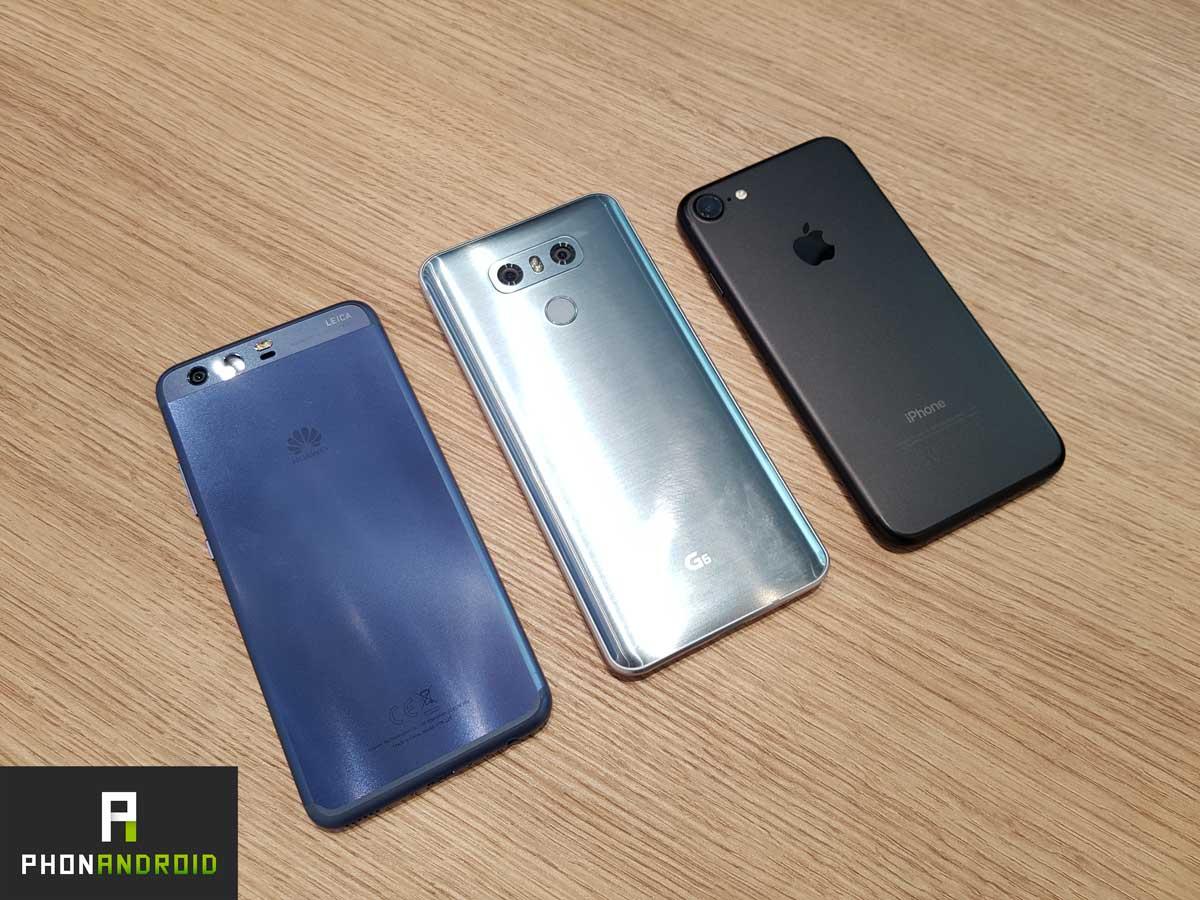iphone 7 lg g6 huawei p10