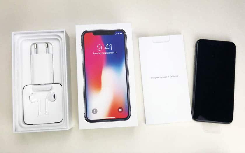 iphone x boite