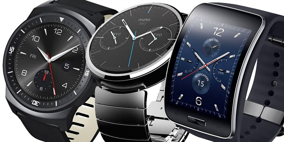 Moto 360 LG G-Watch R Samsung Gear S comparatif des smartwatches