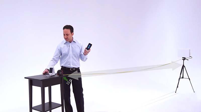 recharge smartphone sans fil metres