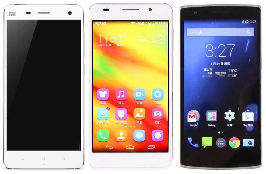 OnePlus One Xiaomi Mi4
