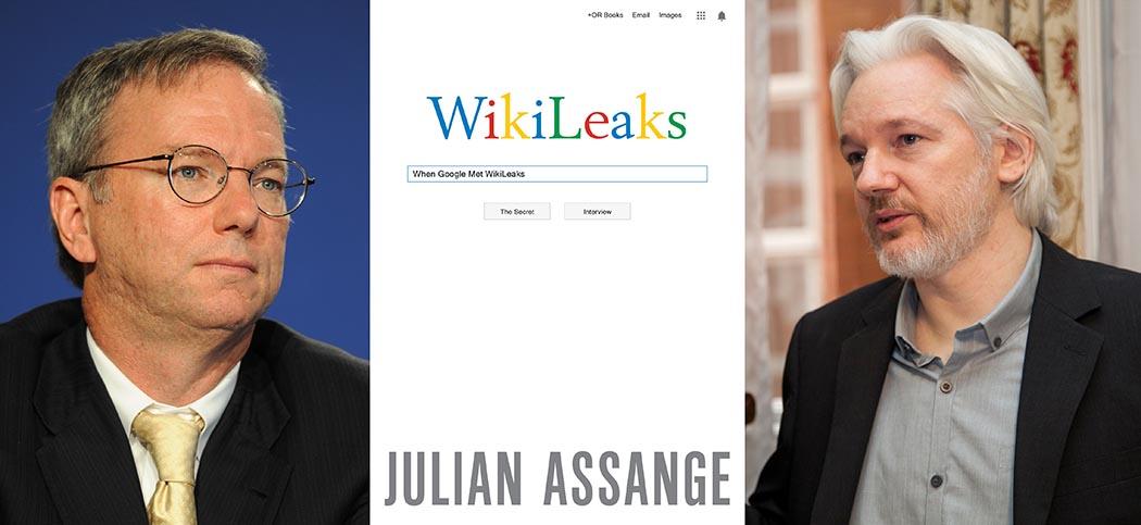 wikileaks assange google