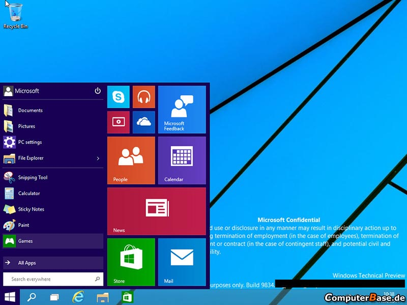 windows 9 menu demarrer
