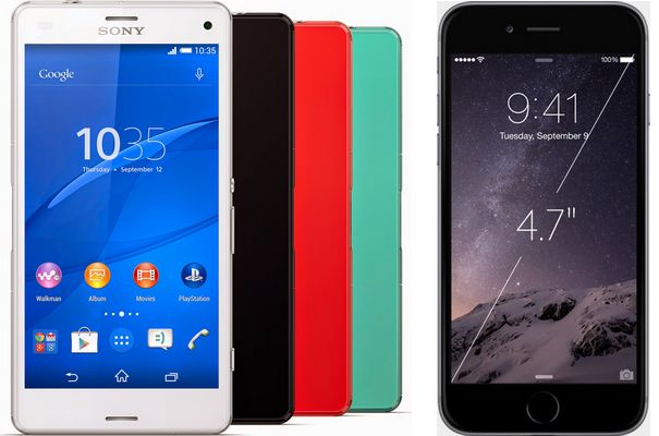 Sony Xperia Z3 Compact vs iPhone 6