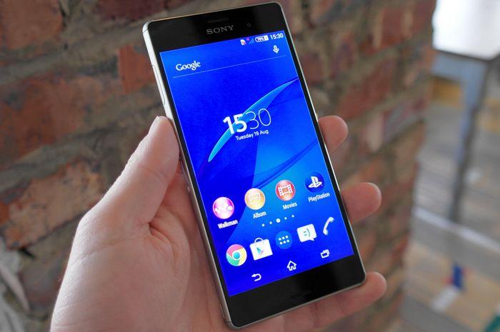 écran du Sony Xperia Z3