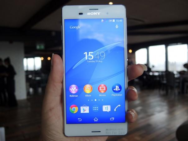 prise en main du Sony Xperia Z3