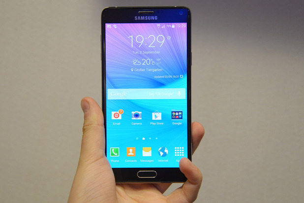 Benchmark galaxy note 4 graphiques