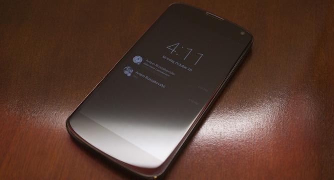 Ambiant Display Nexus 4