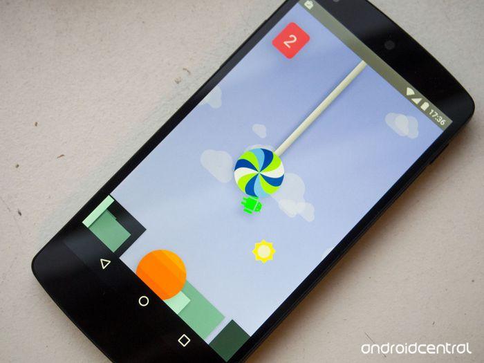 Fonds d'écran et easter-egg d'Android 5.0 Lollipop.